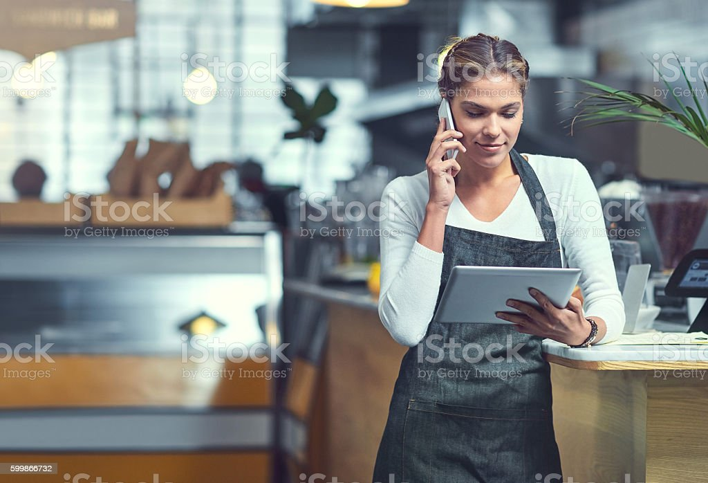 Stocking up on store essentials stock photo