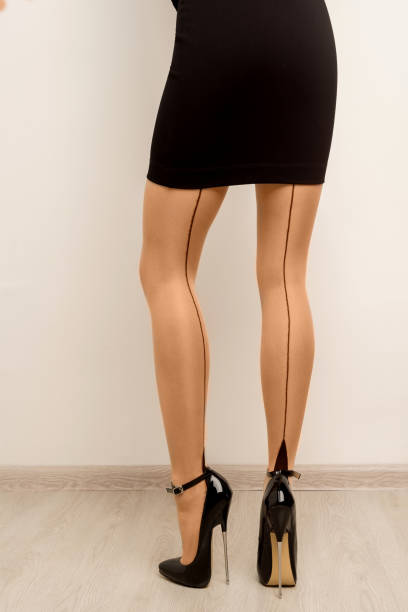 Stockings on beautiful female legs with high heels. Stockings on beautiful female legs with high heels. - image hot sexy butts stock pictures, royalty-free photos & images