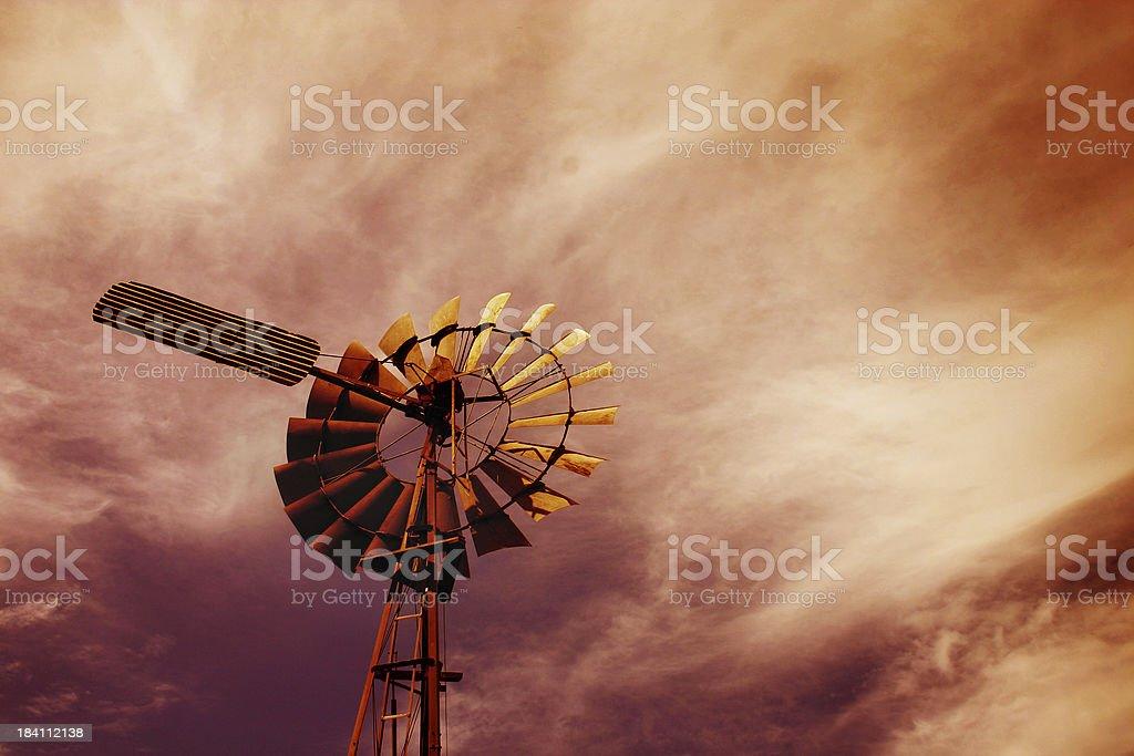 Stockman's windmill stock photo