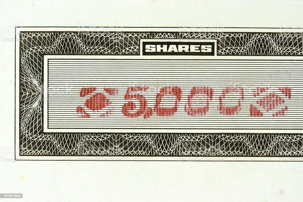 Stockmarket - 5000 shares royalty-free stock photo