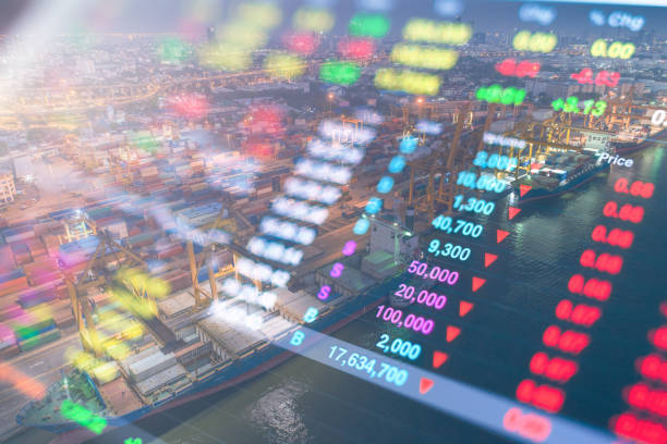 Stockmarket crash and Financial crisis Investment theme stockmarket and finance business analysis stockmarket stock photo
