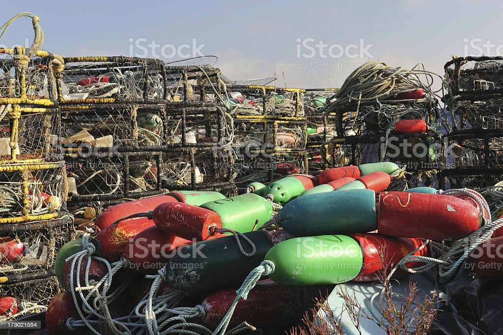 Stockpile of Crabbing Gear stock photo