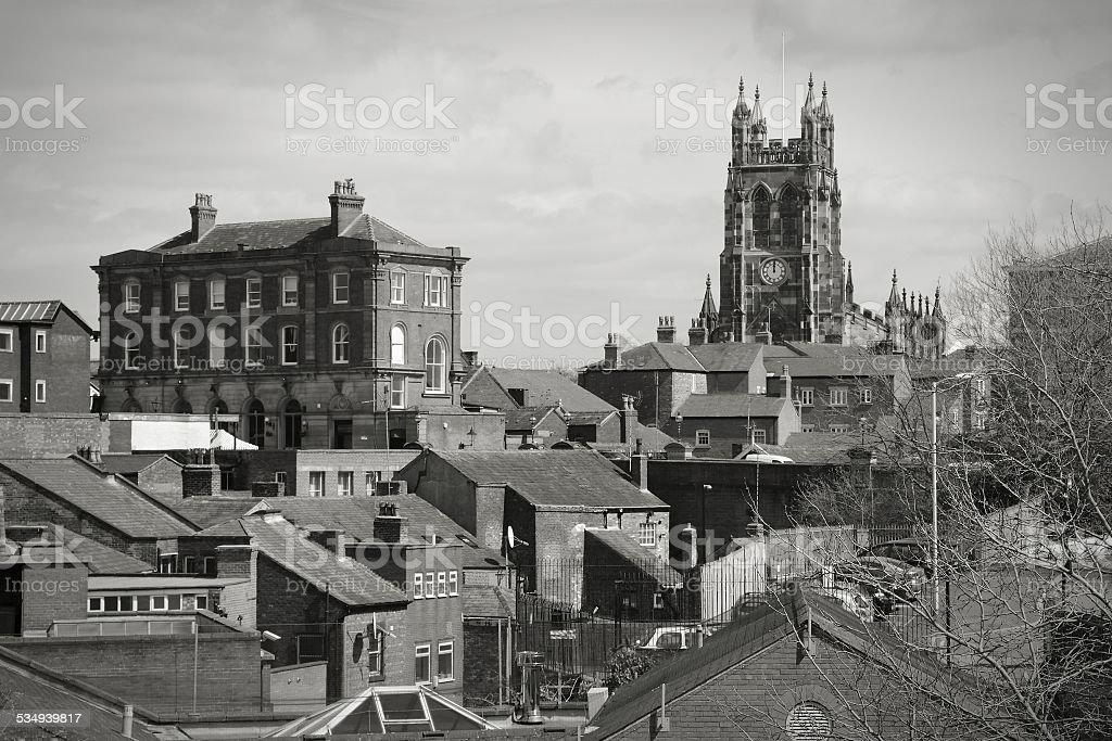 Stockport town stock photo
