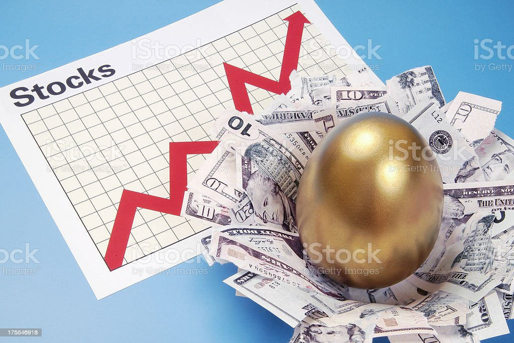 Stocks Nest Egg royalty-free stock photo