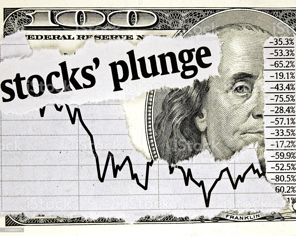 Stock's Plunge royalty-free stock photo