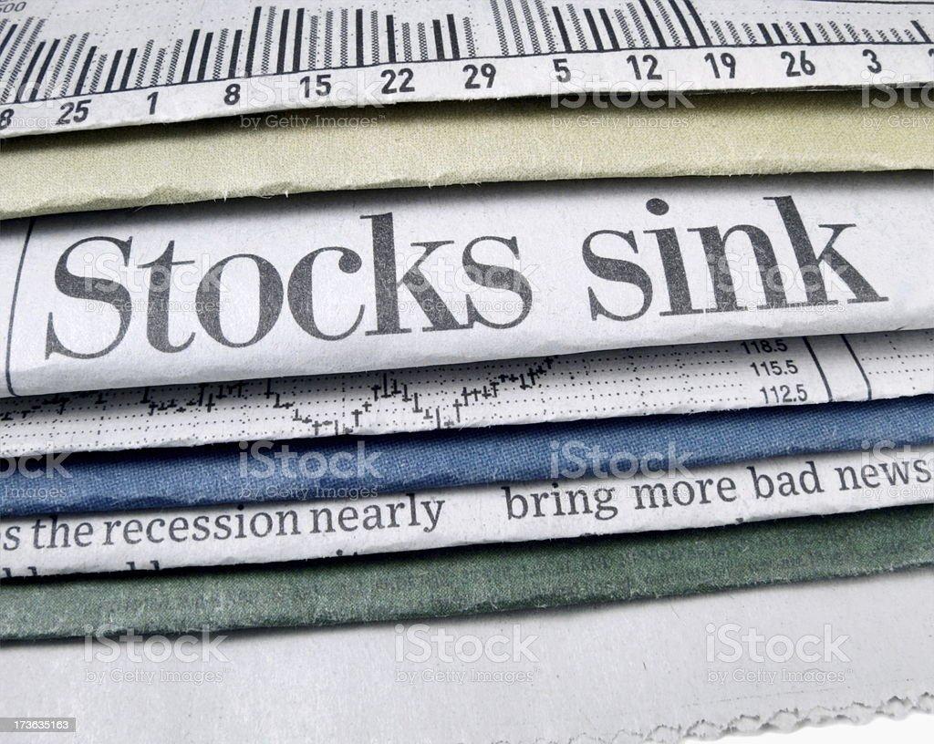 Stocks Sink royalty-free stock photo
