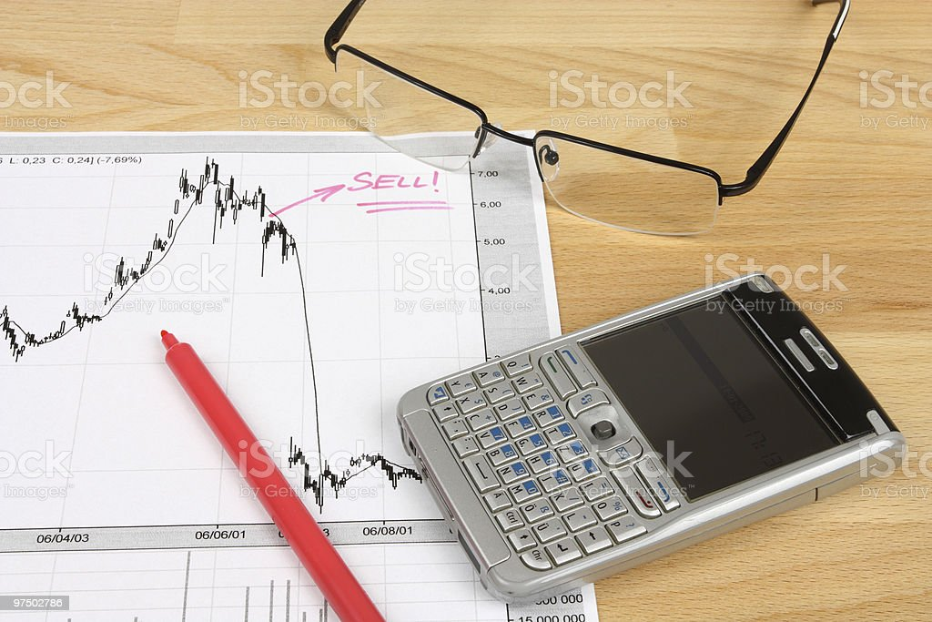 Stocks trading royalty-free stock photo