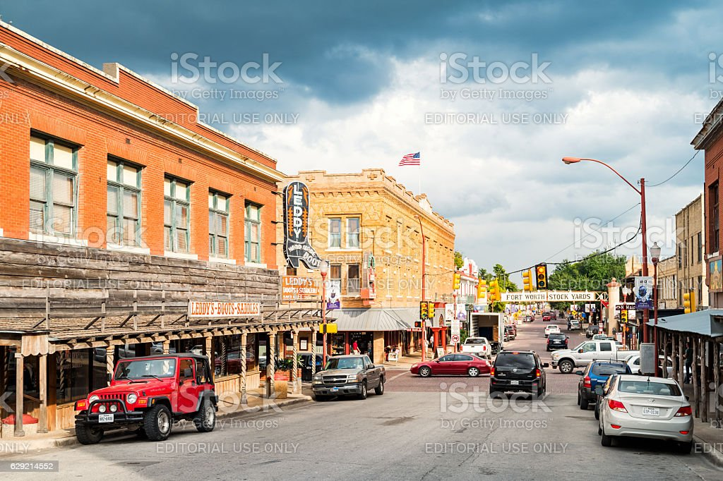 Stockyards in Fort Worth Texas stock photo