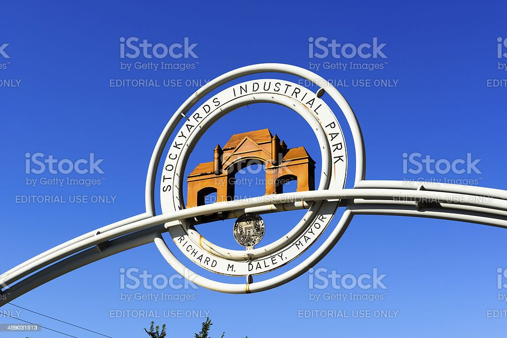 Stockyards Industrial Park Marker, Chicago royalty-free stock photo