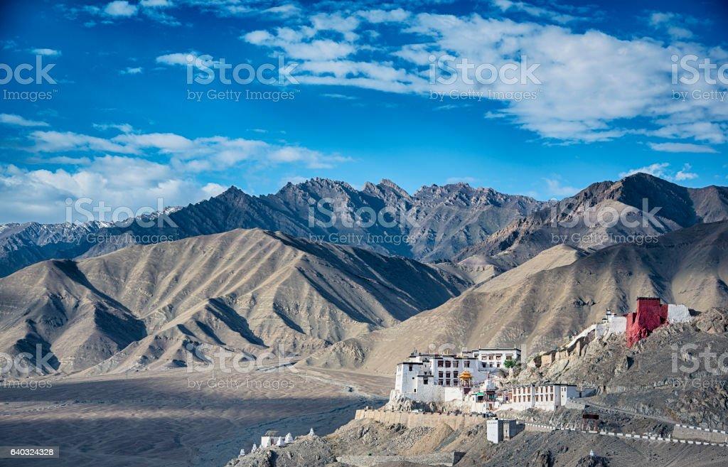 Stok Monastery near Leh, Ladakh, India stock photo