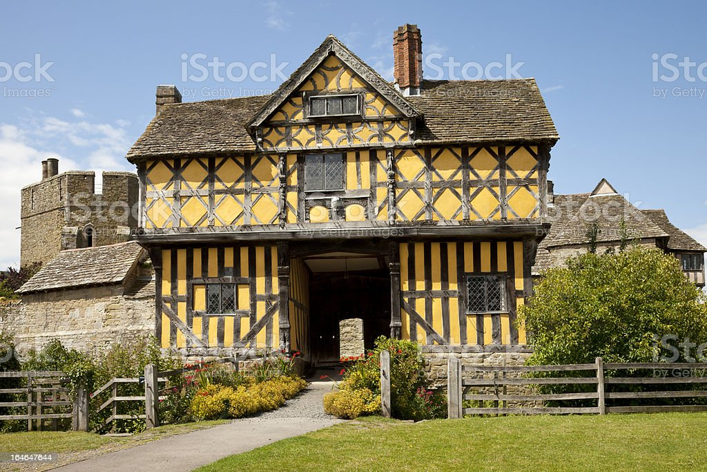 Stokesay Castle Gatehouse stock photo
