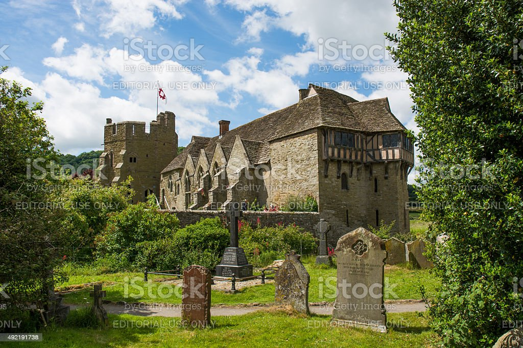 Stokesay Castle, Shropshire stock photo