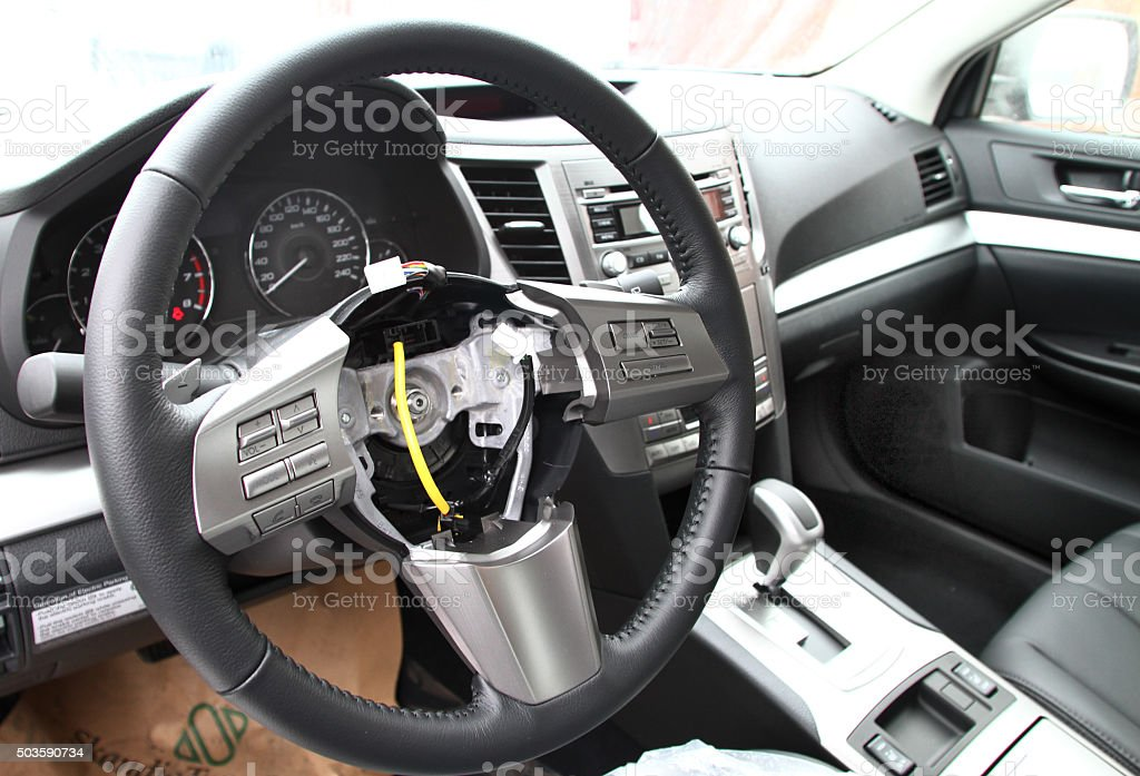 Stolen airbag stock photo