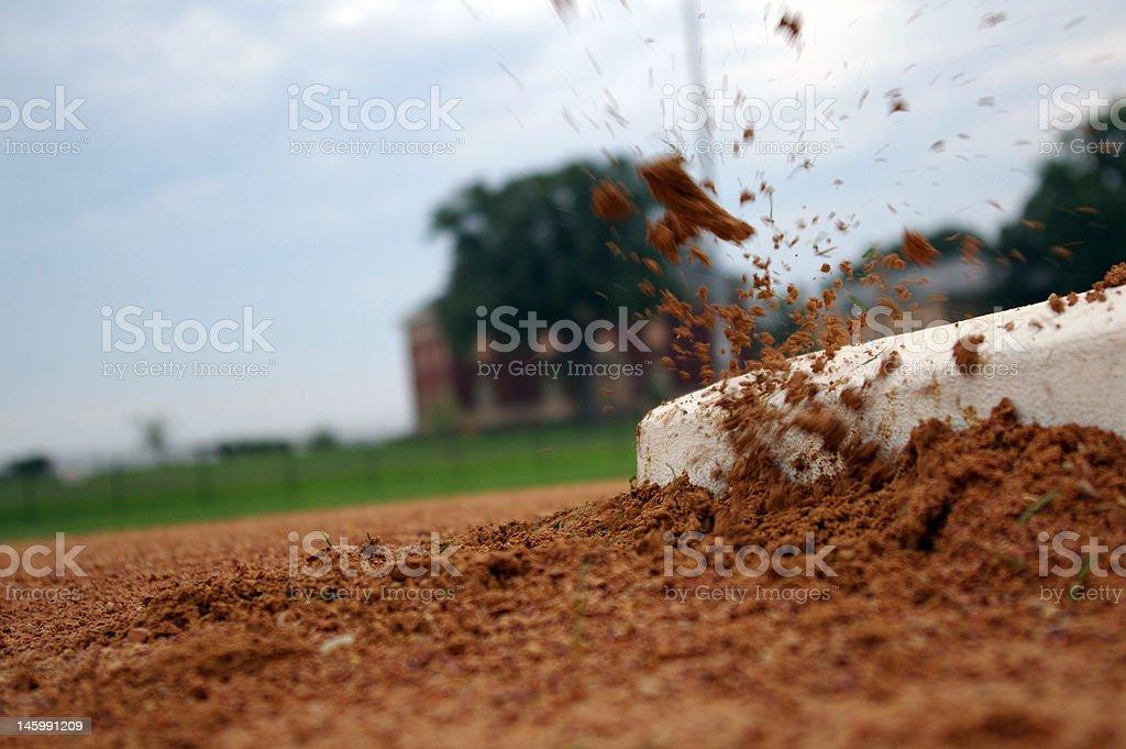Stolen base stock photo