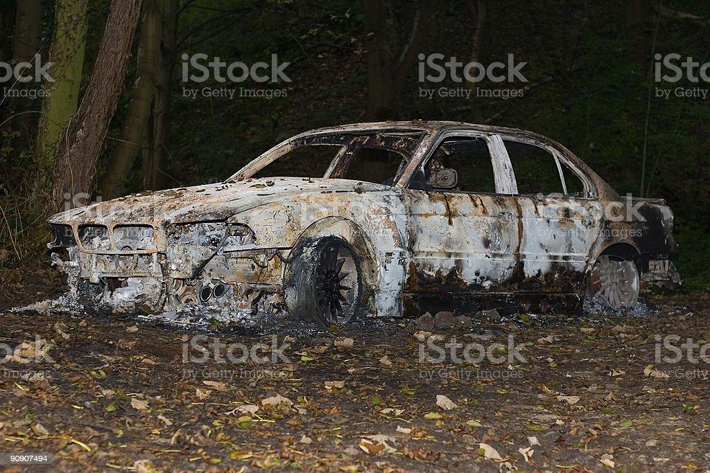 Stolen Car royalty-free stock photo