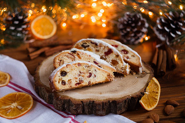Stollen, traditional Christmas sweet holiday cake