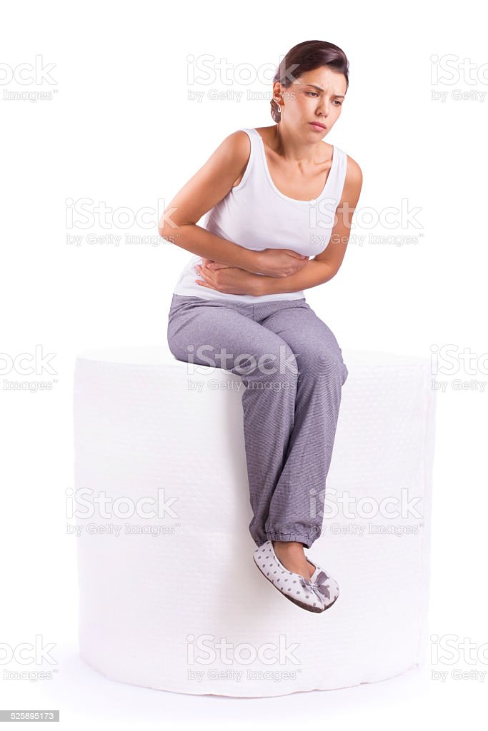 Stomach ache pain stock photo