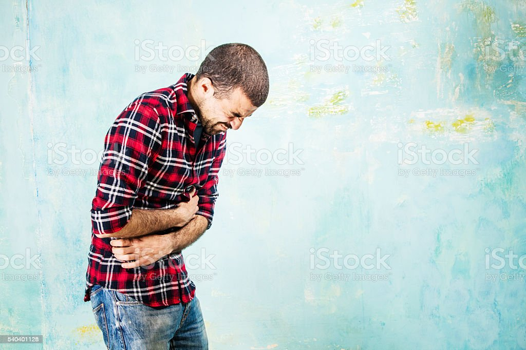 Stomach ache stock photo