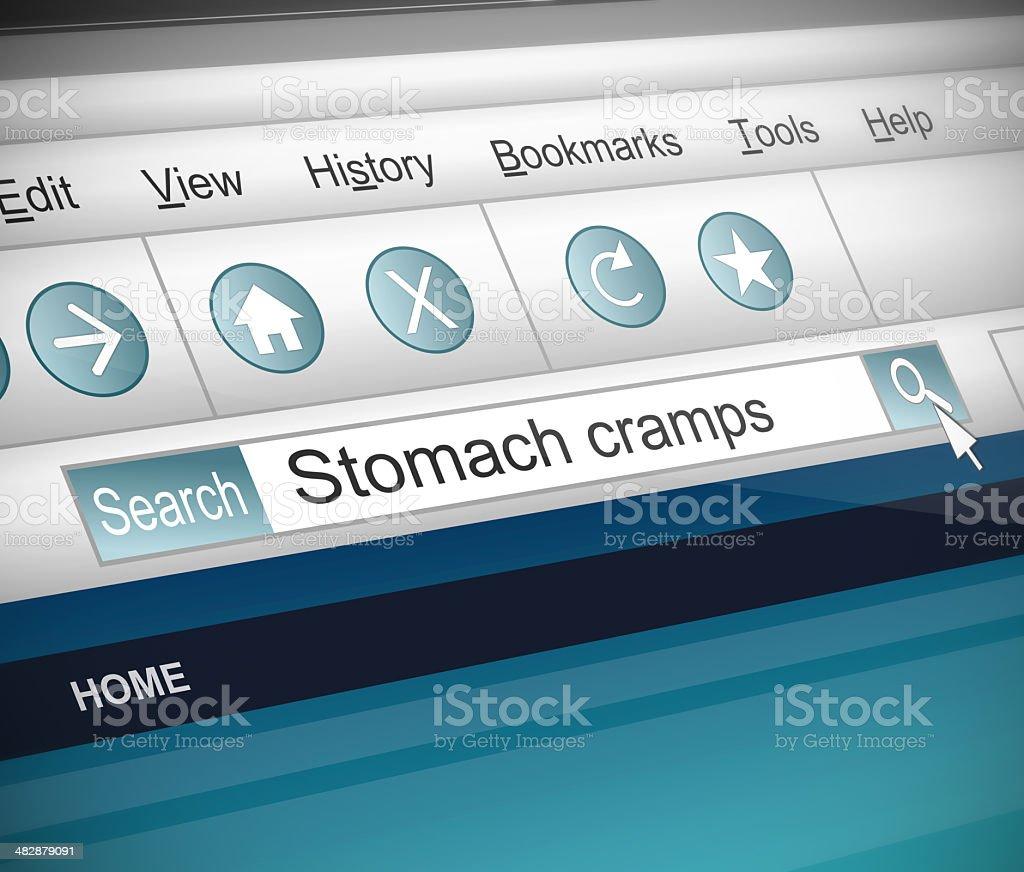 Retortijones estomacales concepto. - foto de stock