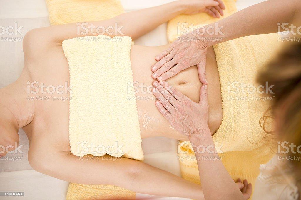 Stomach massage  XXXL royalty-free stock photo