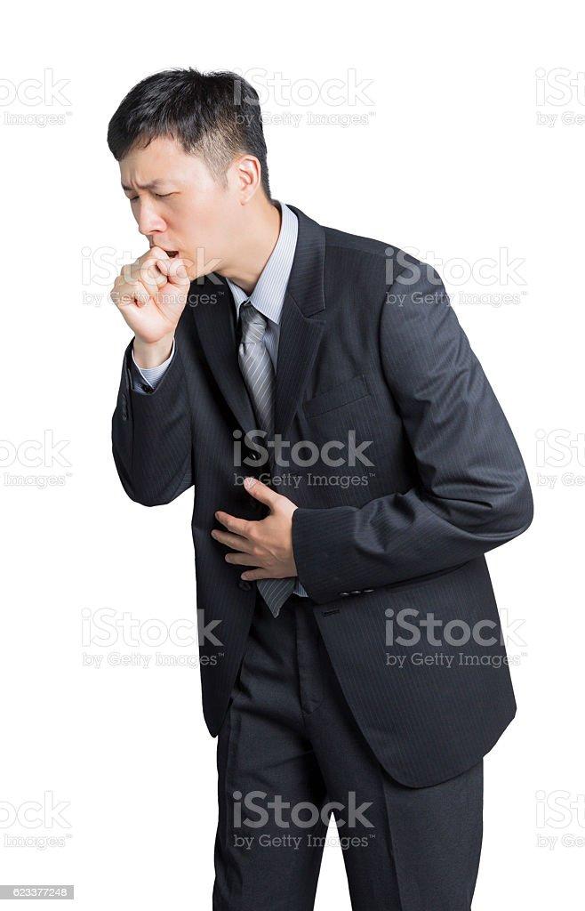 stomachache man stock photo