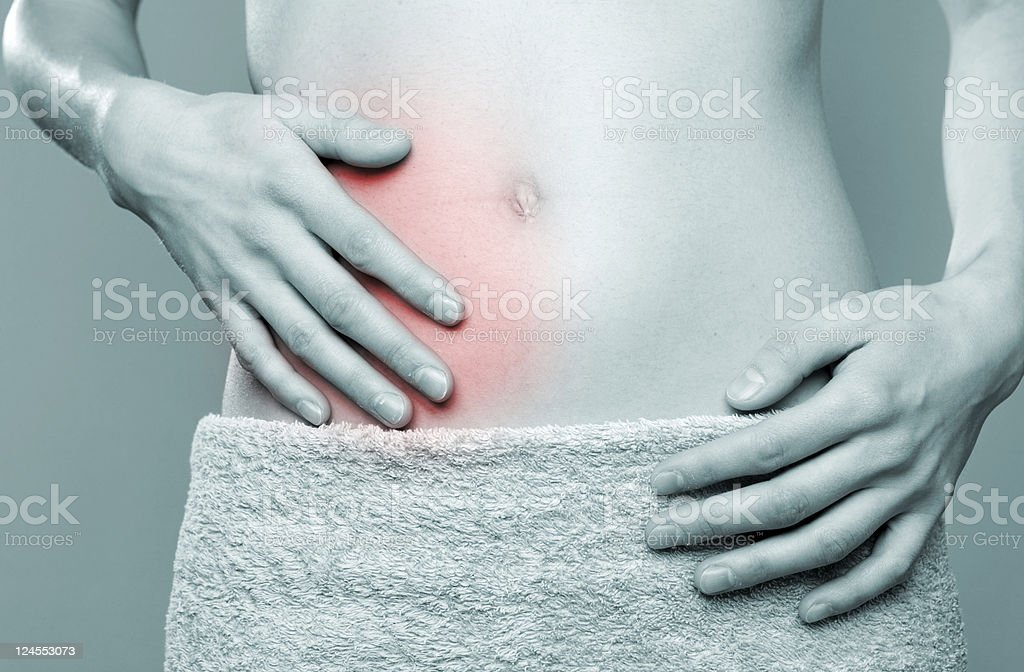Stomachache royalty-free stock photo