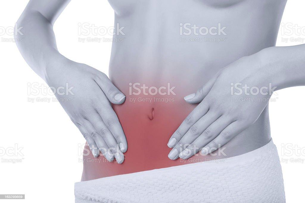Stomach-ache royalty-free stock photo