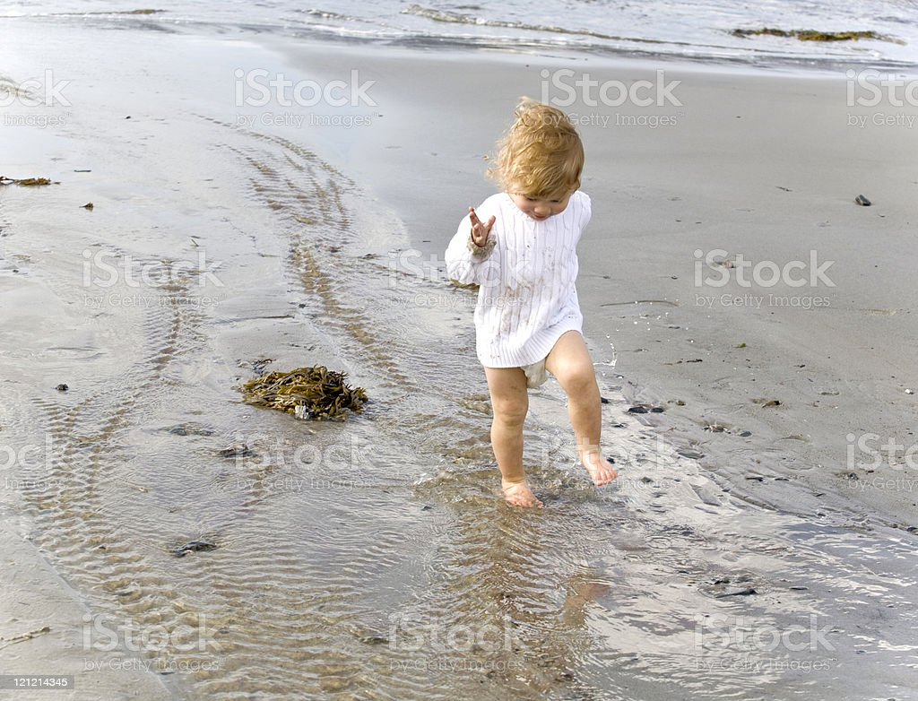 Stomping in a Puddle stock photo
