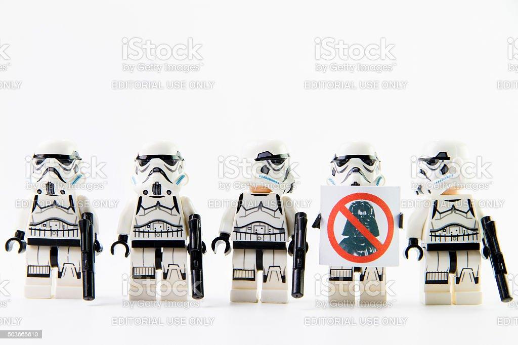 Stomtrooper anti darth vader stock photo