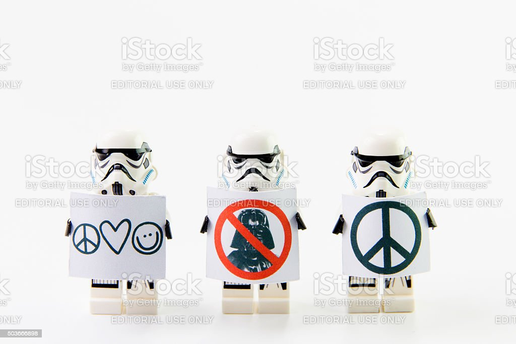 Stomtrooper anti-Krieg. – Foto