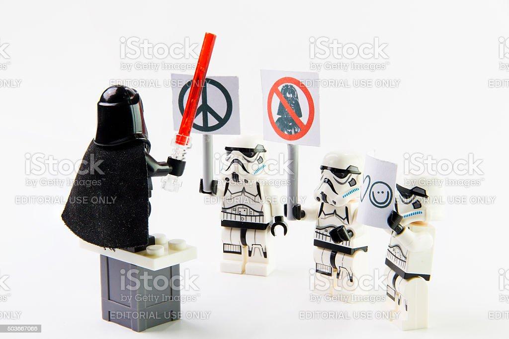 Stomtrooper anti war. stock photo