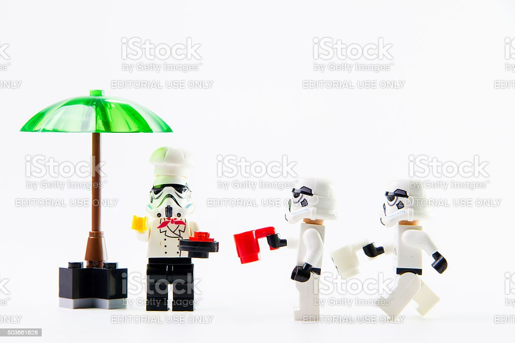 Stomtrooper in lunch hour stock photo