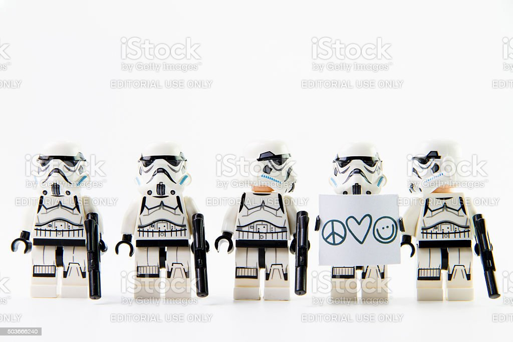 Stomtrooper want a peace stock photo