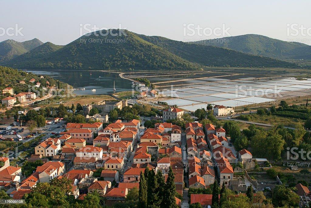 Ston - small town in croatia stock photo