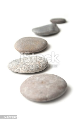 closeup of stone alignment  on white background