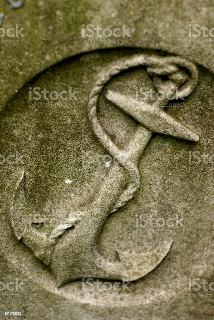 Stone anchor royalty-free stock photo