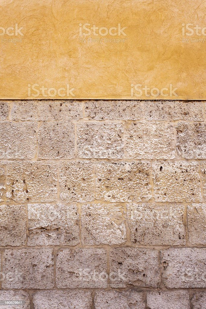 Stone and Adobe Wall royalty-free stock photo