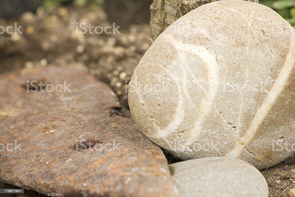 Stone and Iron royalty-free stock photo