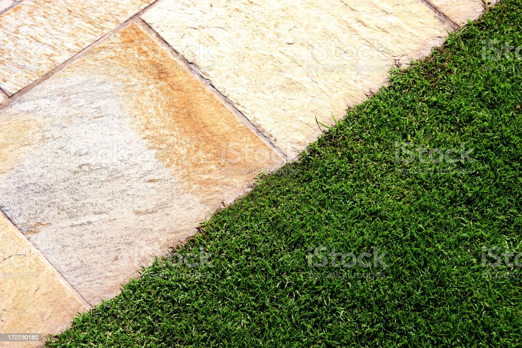 Stone and Lawn royalty-free stock photo