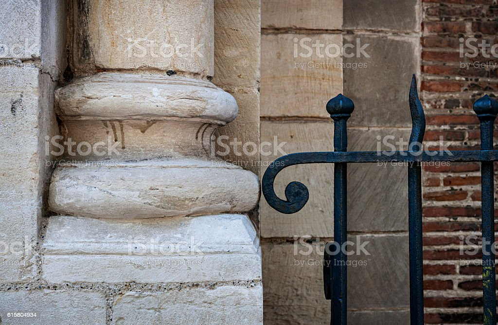 Stone and metal stock photo