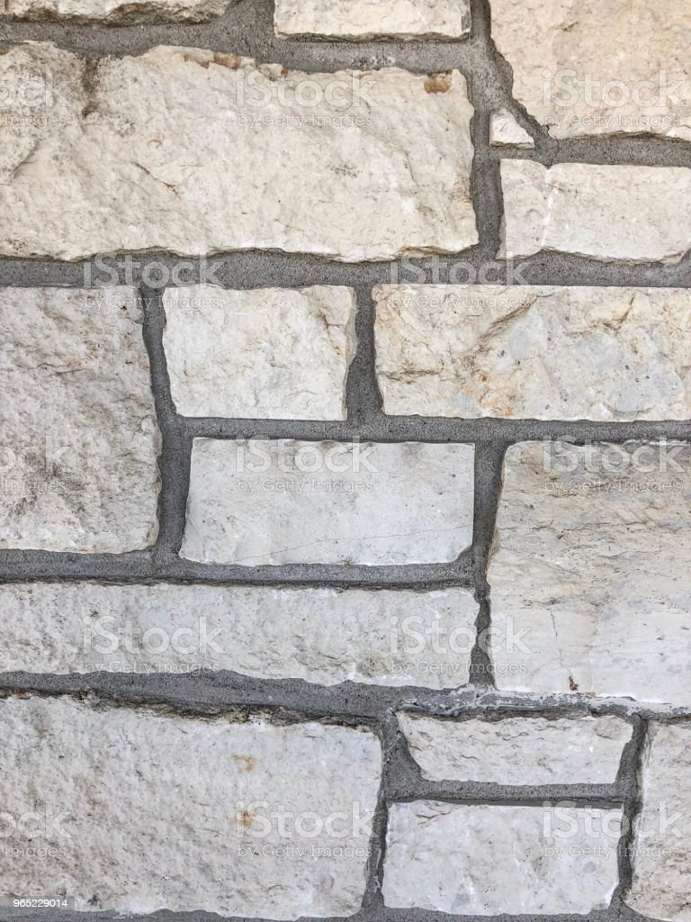 Stone and mortar wall background royalty-free stock photo
