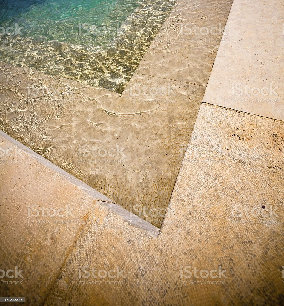 Stone and water reflections royalty-free stock photo