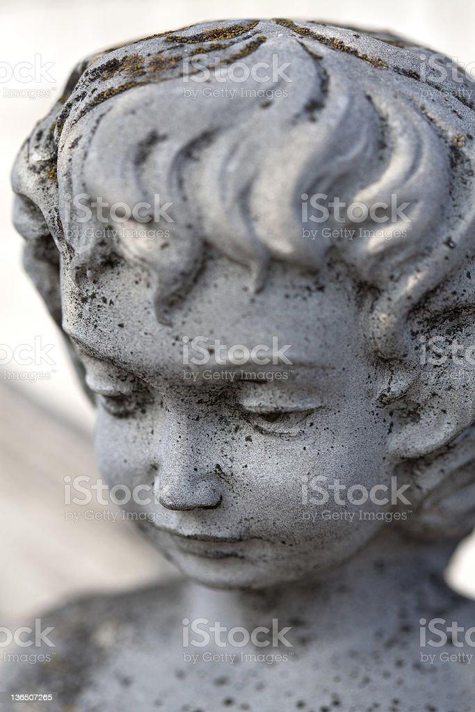 Stone angel face royalty-free stock photo