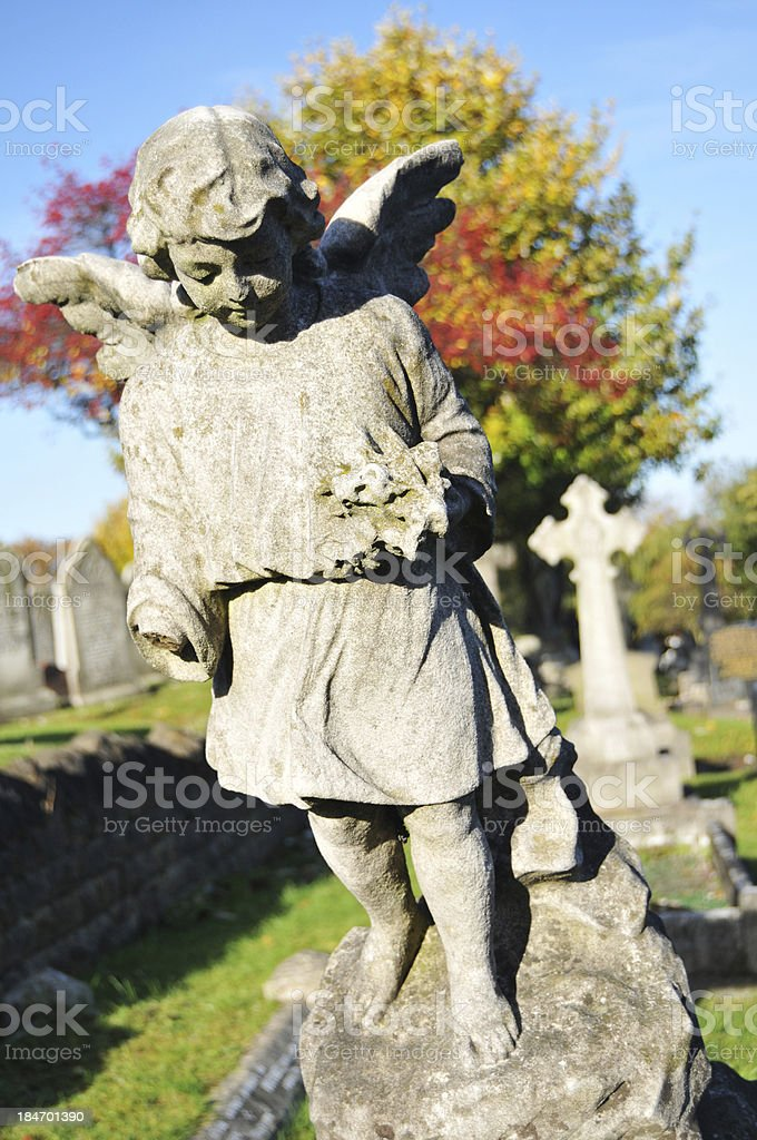 Stone angel royalty-free stock photo