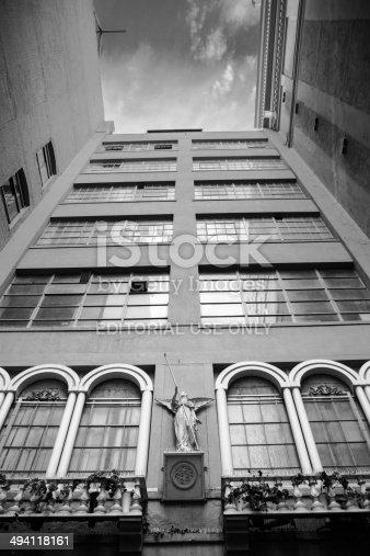 Los Angeles, United States - December 30, 2012: St Vincent's Court, California State Landmark #567