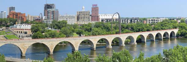 Stone Arch Bridge - Minneapolis stock photo