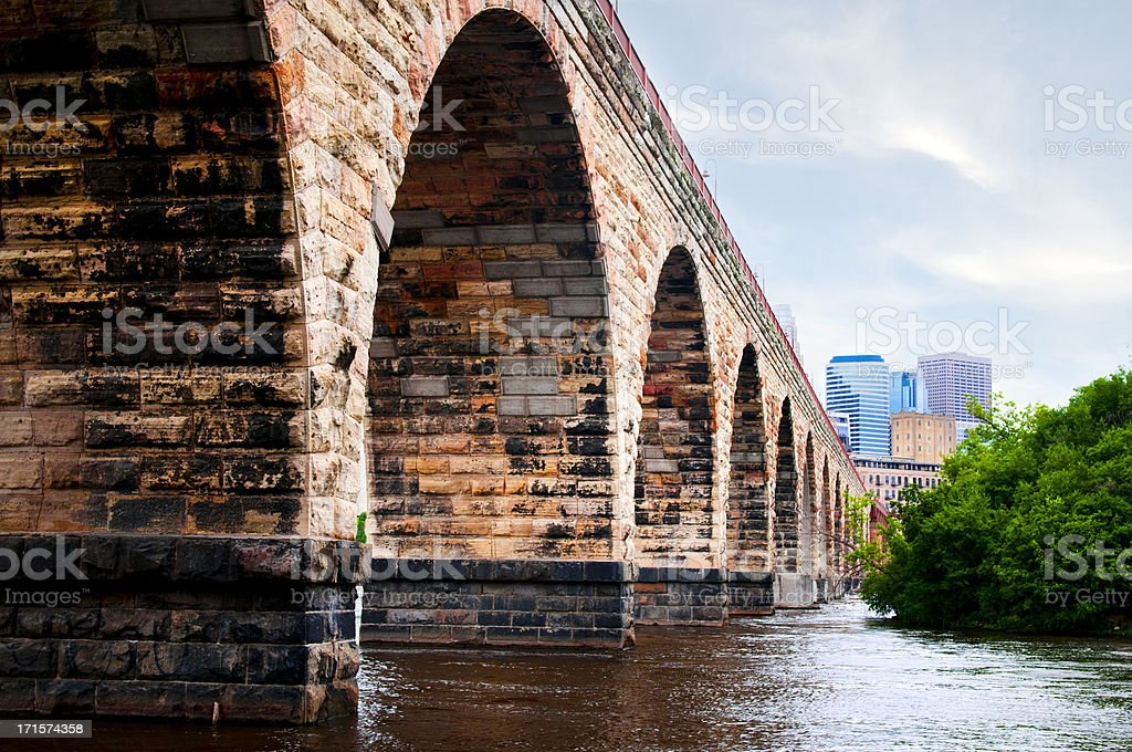 Stone Arch Bridge stock photo