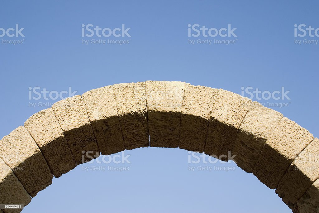 Stone arch royalty-free stock photo
