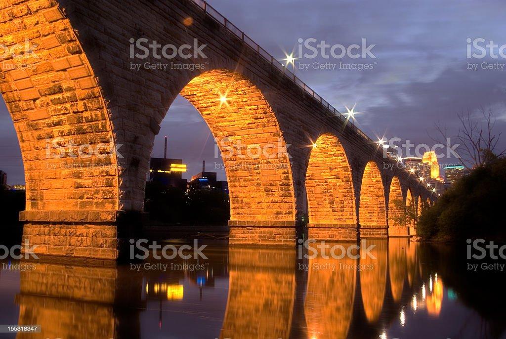 Stone Arch Reflection royalty-free stock photo