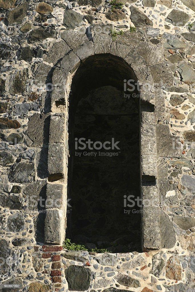 stone arch way stock photo